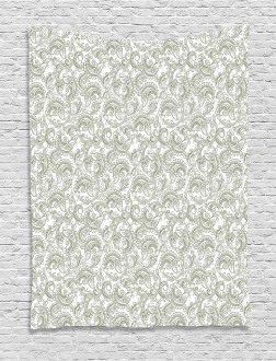 Damask with Ethnic Tapestry