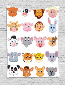 Farm Safari Animals Kid Tapestry
