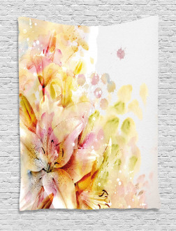 Lilies Flowers Buds Tapestry