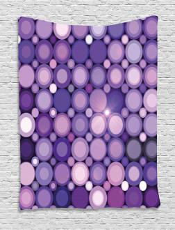 Geometric Violet Circles Tapestry