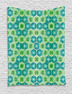 Vector Pattern Flowers Tapestry