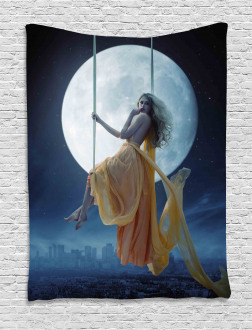 Swing in the Sky Moon Tapestry