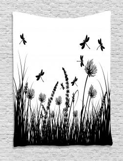 Grass Bush Meadow Spring Tapestry