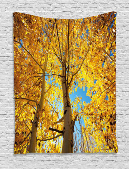 Autumn Trees Leaf Forest Tapestry