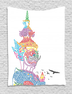 Asian Religious Bird Tapestry