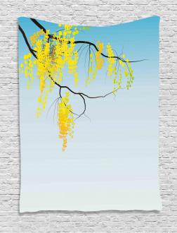 Flowers Bud Blossom Artwork Tapestry