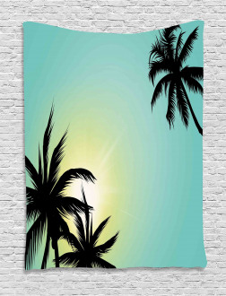 Hawaiian Miami Beach Sun Tapestry