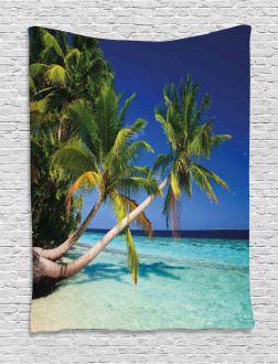 Tropic Island Palms Tapestry