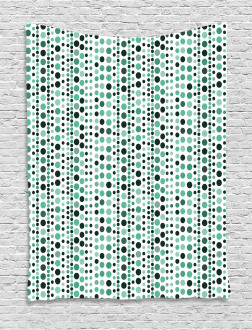 Geometrical Circles Dots Tapestry
