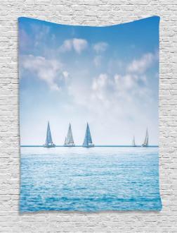 Sail Boats Regatta Race Tapestry