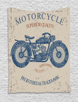 Retro Chopper Rider Tapestry