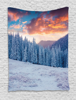 Winter Snowy Forest Sky Tapestry