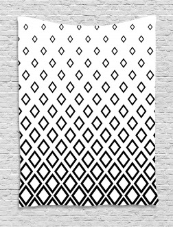 Square Pattern Art Tapestry