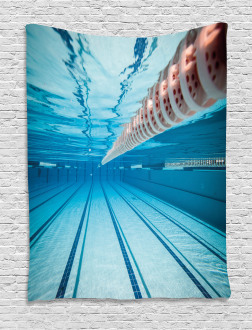 Swimming Pool Sports View Tapestry