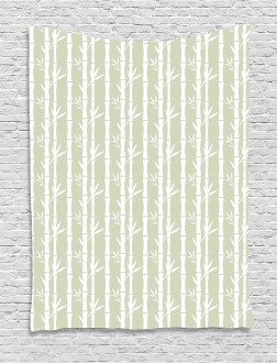 Bamboo Branches Leaves Tapestry