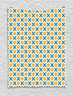 Squares Dashed Lines Tile Tapestry