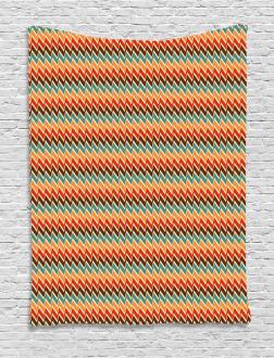 Zig Zags Boho Striking Tapestry