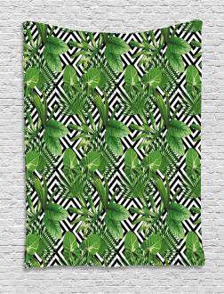 Modern Coconut Palm Tapestry
