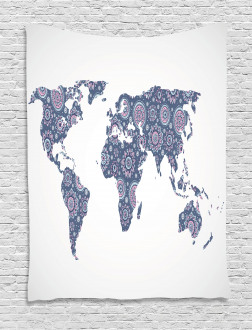 Oriental Map Tapestry