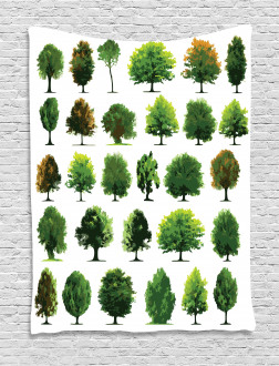 Pines Planes Bushes Tree Tapestry