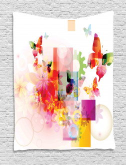 Natural Flowers Tapestry
