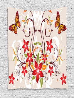 Blossoms Bouquet Botany Tapestry