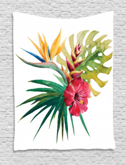 Wild Tropical Orchid Tapestry