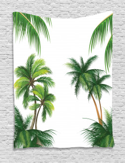 Coconut Palm Tree Plants Tapestry