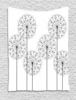 Digital Flower Dandelion Tapestry