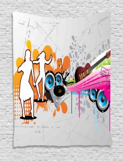 Music Funky Urban Nights Tapestry