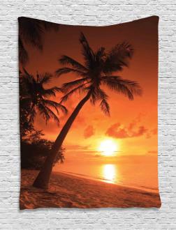 Twilight Coconut Palms Tapestry