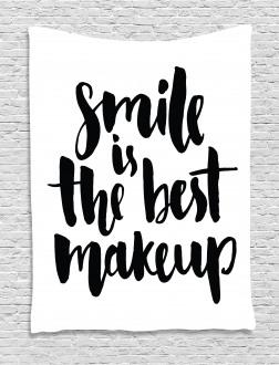 Smile Motivational Letter Tapestry