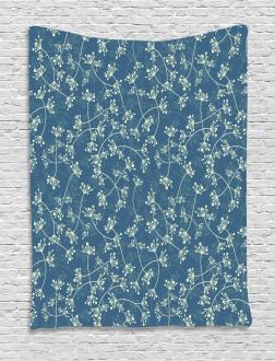 Twiggy Spring Petal Blue Tapestry