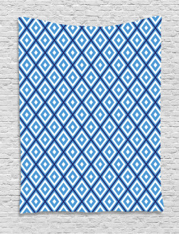 Geometric Diamond Form Tapestry