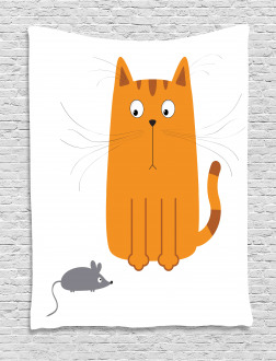 Kitty Fun Humor Kids Tapestry