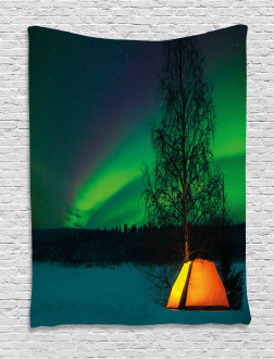 Camping Tent Field Tapestry