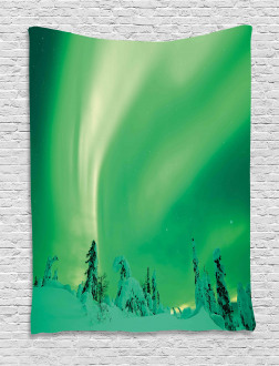 Icy Pine Tree Tapestry
