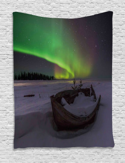 Boat and Galaxy Tapestry
