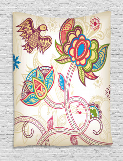Flower Petal Shabby Chic Tapestry