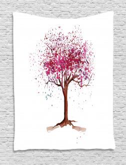 Blossom Buds Sakura Tree Tapestry