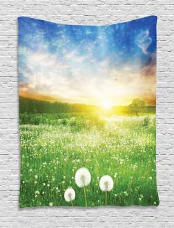 Dandelion Flower Field Tapestry
