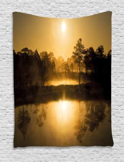 Idyllic Sunrise Morning Tapestry
