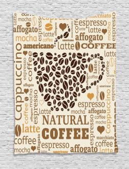 Latte Affogato Coffee Tapestry