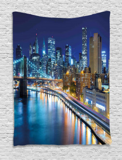 View of New York City Tapestry