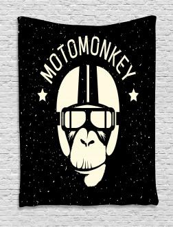 Alien Monkey Sign Tapestry