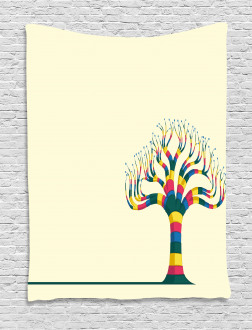 Colorful Tree and the Leaf Tapestry