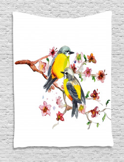 Birds on the Branches Tapestry