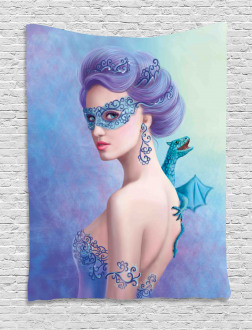 Fantasy Snow Queen Tapestry
