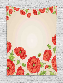 Card with Poppy Flowers Tapestry