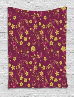 Spring Flowers Pattern Tapestry